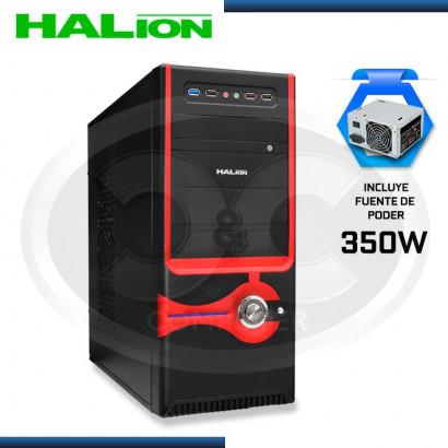 CASE HALION TWISTER 812BR FUENTE 350W REAL USB 3.0 ROJO