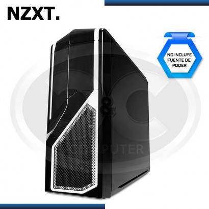 CASE NZXT PHANTOM 410 MID TOWER, SIN FUENTE, NEGRO- BLANCO USB 3.0 (PN:CA-PH410-B2)