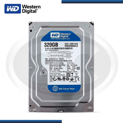 DISCO DURO WESTER DIGITAL 320GB BLUE SATA, 8MB, 7200RPM MOD:WD3200AAJS