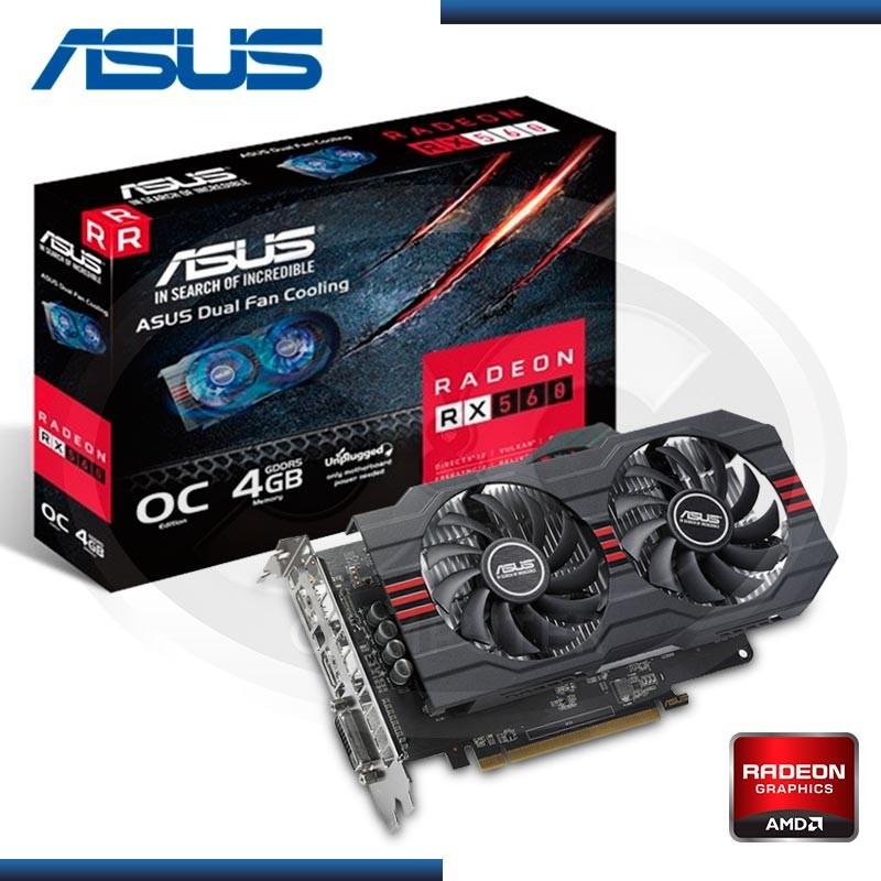 VIDEO PCI-EXP. RADEON ASUS RX 560  OC, 4GB GDDR5 128-BIT, HDMI/DP/DVI (PN: RX560-O4G-EVO)