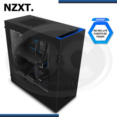 CASE NZXT S340 BLACK/BLUE USB 3.0, SIN FUENTE, MID TOWER (PN:CA-S340MB-GB)