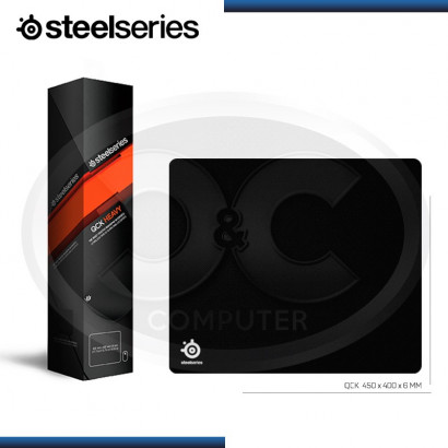 MOUSE PAD STEELSERIES QCK HEAVY, BASE DE GOMA ANTIDESLIZANTE, 450 x 400 x 6 MM (N/P 63008)