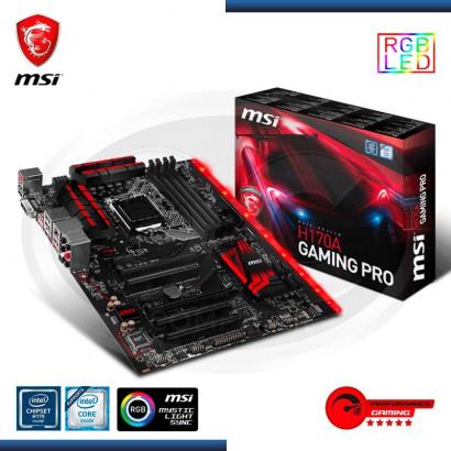 MB MSI H170A GAMING PRO C/ SONIDO,RED,HDMI,DVI DDR4 LGA 1151
