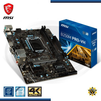 MB MSI B250M PRO-VH DDR4, LGA 1151, 7th /6th GENE. HDMI, VGA,  LAN 1x PCIE  3.0  USB 6 * 3.1