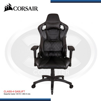 SILLA CORSAIR T1 RACE GAMING CHAIR HIGH BACK DESK AND OFFICE CHAIR BLACK BLACK