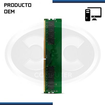 MEMORIA RAM DDR4 4GB 2400 MHZ (PC4 -9200) 1.2V, OEM
