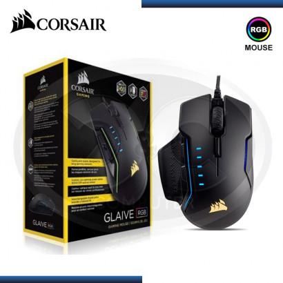 MOUSE CORSAIR GAMING GLAIVE BLACK RGB  16000 DPI (PN:CH-9302011-NA)