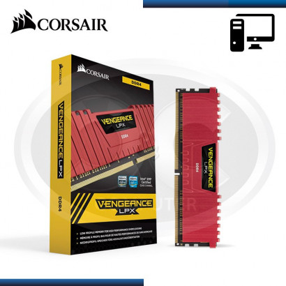 MEMORIA 8GB DDR4 (1X8GB) , CORSAIR VENGEANCE LPX 2666MHz (N/P CMK8GX4M1A2666C16R)