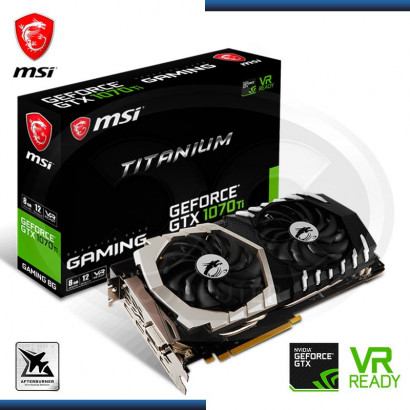 MSI GEFORCE GTX 1070 TI TITANIUM 8GB GDDR5, 256-BIT (PN: GTX 1070 TI TITANIUM 8G ) - VIDEO PCI EXPRESS