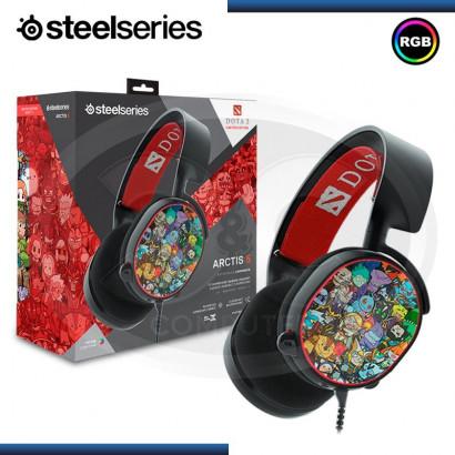 AUDIFONOS STEELSERIES ARCTIS 5 DOTA 2  7.1 SURROUND, ILUMINACIÓN RGB, MICRÓFONO, USB ( N/P PC- 61445)