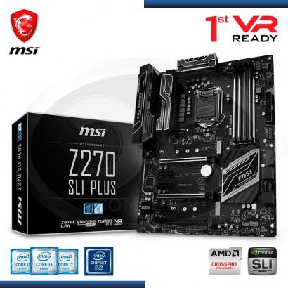 MB MSI Z270 SLI PLUS, 7th /6th GENE. HDMI,LAN,DVI-D, DP, 3X PCIE 16X, 3X PCIE X1  DDR4, LGA 1151