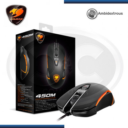 MOUSE COUGAR GAMING 450M OPTICO, 5000 DPI, USB, BLACK (PN: CGR-WOMB-450 )