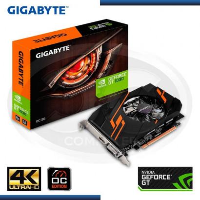 VIDEO GIGABYTE GEFORCE GT 1030 2GB GDDR5, 64 BITS (PN: GV-N1030OC-2GI )