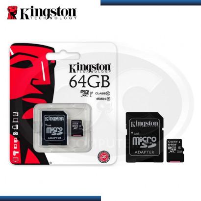 MEMORIA MICRO SDHC XC 64GB KINGSTON CLASS 10  (PN:SDC10G2/64GB)