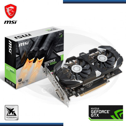 MSI GEFORCE GTX 1050 TI OC 4GB, GDDR5, 128 BIT, DVI-HDMI, DP (N/P 912-V809-2679 ) - VIDEO PCI EXPRESS