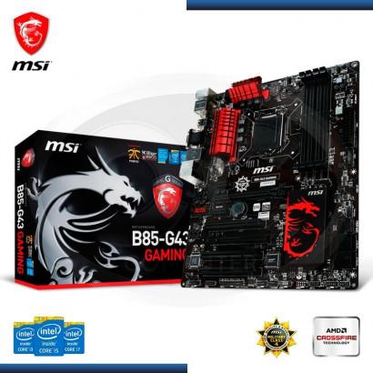 MB MSI B85M-G43 GAMING C/ VIDEO-SONIDO-RED, HDMI DDR3  S.LGA 1150 (911-7816-024)