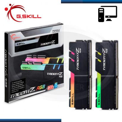 MEMORIA 16GB DDR4 (2 x 8GB)  G.SKILL TRIDENT Z RGB  3200MHz (N/P F4-3200C16D-16GTZR)