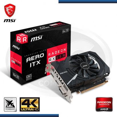 VIDEO PCI EXP. RADEON MSI RX 550 4GB GDDR5, DVI-D HDMI, 128 BIT (PN: RX 550 AERO ITX 4G OC)