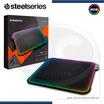 MOUSE PAD STEELSERIES QCK PRISMA RGB - 292.4 mm (11.51 in) x 8.68 mm (0.34 in)