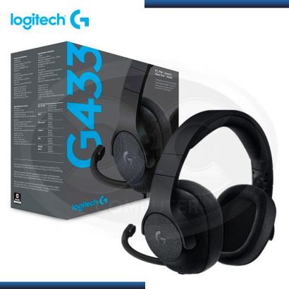 AUDIFONO C/ MICROF. GAMER LOGITECH G433 BLACK 7.1 , STEREO (PN: 981-000667 )
