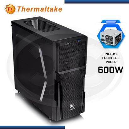 CASE THERMALTAKE VERSA H21 BLACK + FUENTE 600W (PN: CA-3B2-60M1WU-05 )