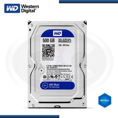 DISCO DURO WESTERN DIGITAL BLUE 500GB SATA3 / 32 MB 7200RPM MOD: WD5000AZLX (G.18 M)