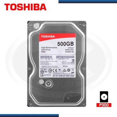 "DISCO DURO INTERNO TOSHIBA 500GB 7200 RPM, SATA3 6GB/s, 64MB, 3.5"" (PN:HDWD105UZSVA)"