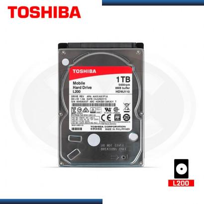 DISCO DURO TOSHIBA  L200 1TB 5400 RPM, 8MB MOD:MDWJ110, BOLSA