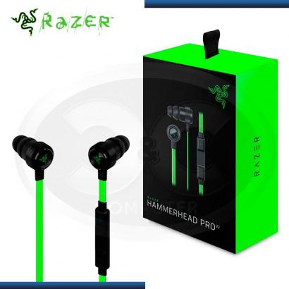 AUDIFONO C/MICROF. RAZER HAMMERHEAD PRO V2 BLACK/GREEN (N/P  RZ04-01730100-R3U1 )