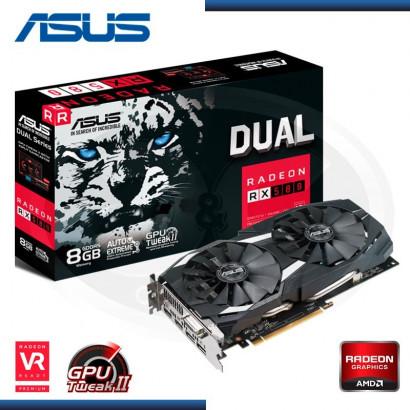 VIDEO PCI-EXP. ASUS RADEON DUAL RX 580, 8GB GDDR5 OC 256-BIT  HDMI/DL/DVI-D (PN:90YV0AQ1-M0NA00)