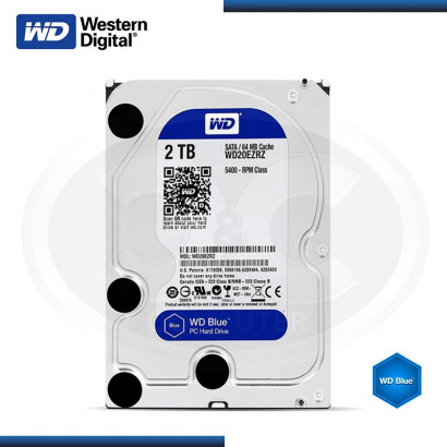 DISCO DURO WESTERN DIGITAL BLUE 2TB SATA 6GB/s 64MB  MOD: WD20EZRZ