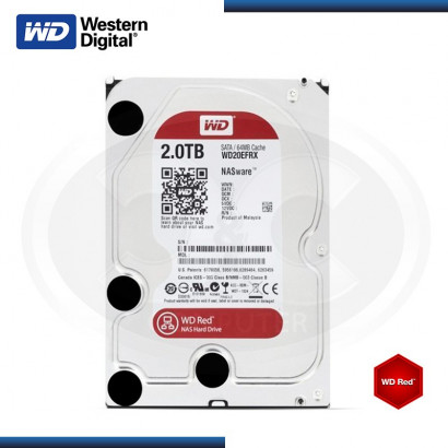 DISCO DURO WD RED 2TB SATA 6GB/s 64MB MOD:WD20EFRX