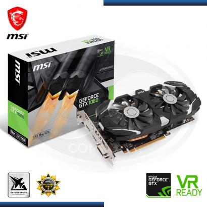 VIDEO PCI EXP. GEFORCE MSI GTX 1060  6GB, GDDR5, OC 192 BIT,DVI-D -HDMI (PN:912-V328-274)