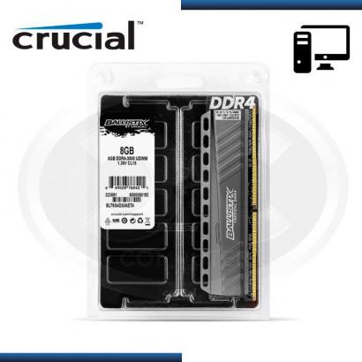 MEMORIA CRUCIAL BALLISTIX TACTICAL GRAY DDR4 8GB 3000 MHZ /1.35V, C/DISIPADOR (BLT8G4D30AETA)