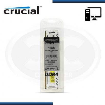 MEMORIA CRUCIAL BALLISTIX SPORT LT WHITE DDR4 16GB 2400 MHZ /1.2V, C/DISIPADOR (PN:BLS16G4D240FSC)