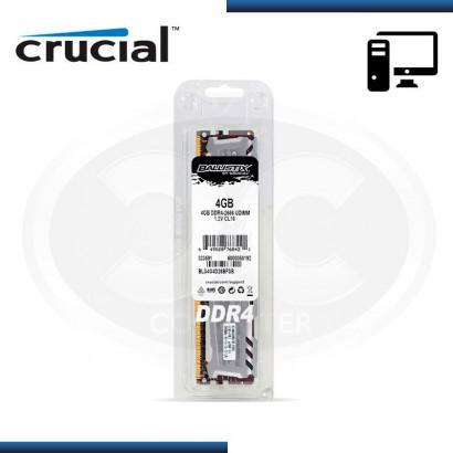 MEMORIA CRUCIAL BALLISTIX SPORT LT GRAY DDR4 4GB 2666 MHZ /1.2V, C/DISIPADOR (BLS4G4D26BFSB)