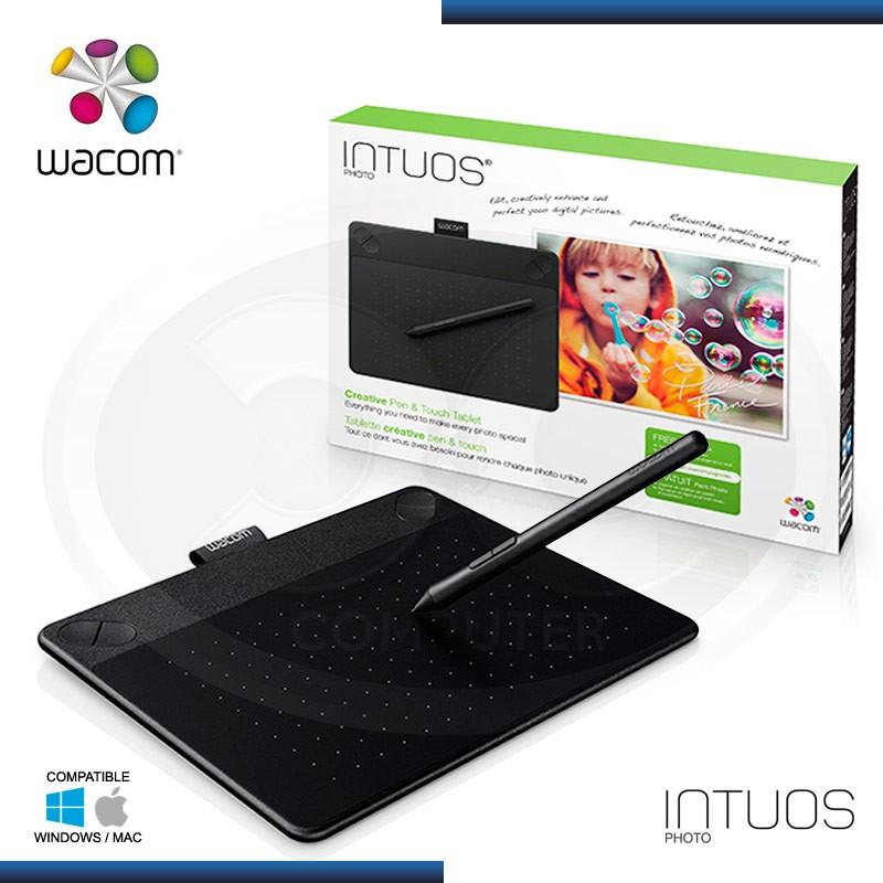 TABLETA WACOM INTUOS PHOTO BLACK SMALL + LAPIZ DIGITAL (PN:CTHB-490)