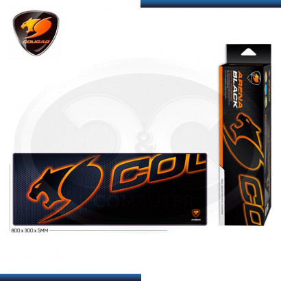 PAD MOUSE COUGAR PARA GAMING  ARENA BLACK  EXTRA LARGE 800X300X5MM (PN:CGR-BBRBS5H-ARE)