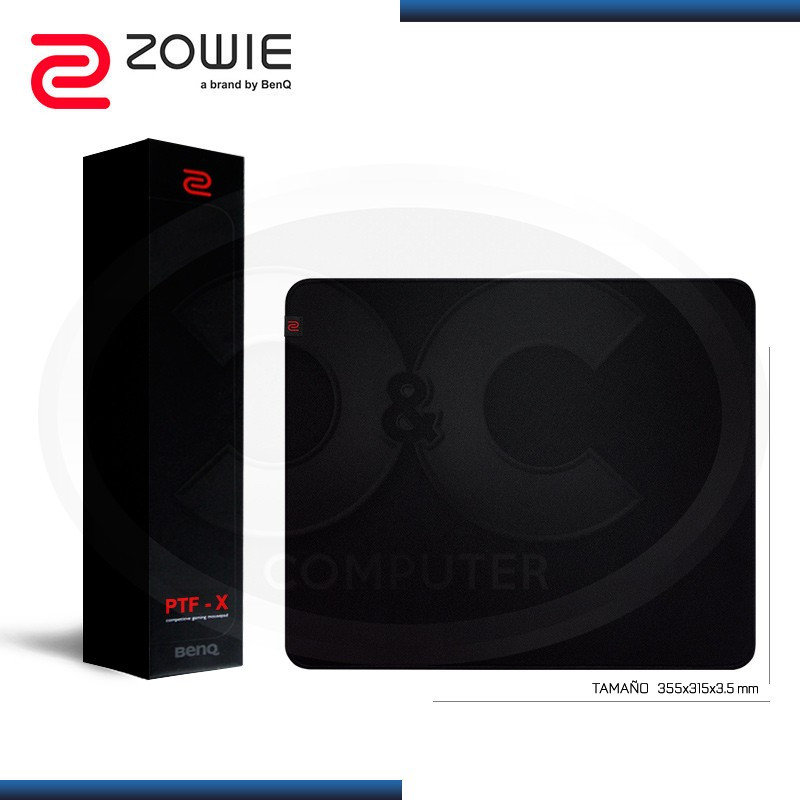 PAD MOUSE ZOWIE P-TFX GAMING SMALL BLACK (TAMAÑO: 355x315x3.5mm)