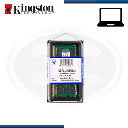 MEMORIA 8GB DDR3 KINGSTON...