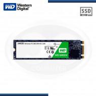 UNIDAD DE ESTADO SOLIDO WESTER DIGITAL GREEN 240GB GO M.2 / 2280 SATA3 6GB/s  (PN: WDC-WDS240G2G0B )