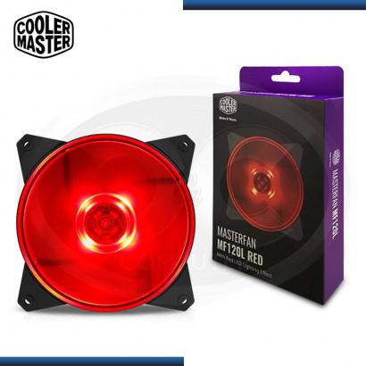 COOLER DE CASE COOLER MASTERFAN MF120L 120MM / LED RED (PN: R4-C1DS-12FR-R1 )