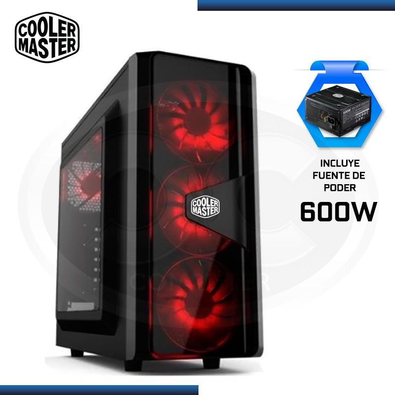 CASE COOLER MASTER CMP 505 ELITE V3 USB 3.0 BLACK + FUENTE DE PODER 600W