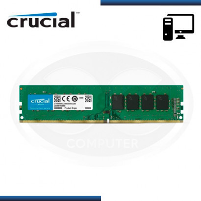MEMORIA CRUCIAL DDR4 4GB BUS 2400 MHZ 1.2V, SIN DISIPADOR MOD:CT4G4DFS824A