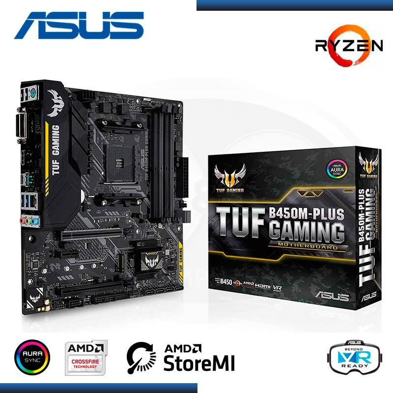 MB ASUS TUF B450M-PLUS GAMING AMD RYZEN DDR4 AM4 (PN:90MB0YQ0-M0EAY0)