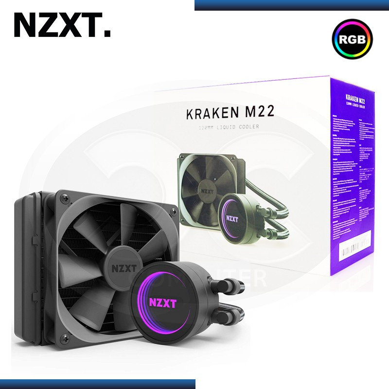 COOLER CPU NZXT KRAKEN M22 RGB REFRIGERACION LIQUIDO AMD/INTEL (PN:RL-KRM22-01)
