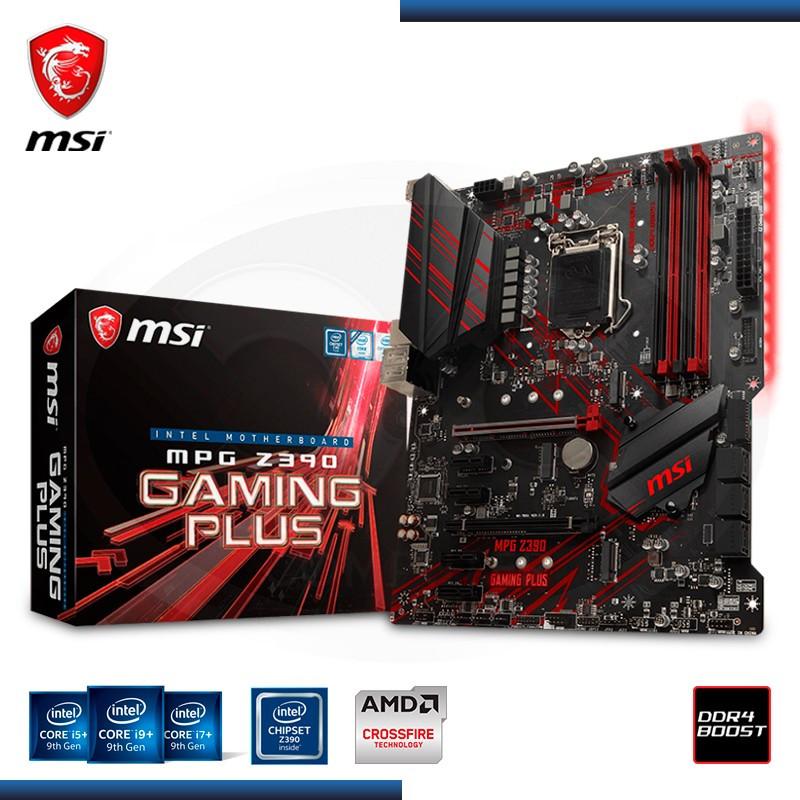 MB MSI MPG Z390 GAMING PLUS DDR4 LGA 1151- NOVENA GENERACIÓN