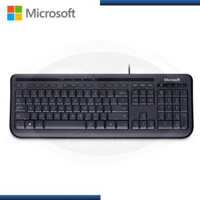 TECLADO MULTIMEDIA MICROSOFT WIRED 600 USB NEGRO (PN:ANB-00004)