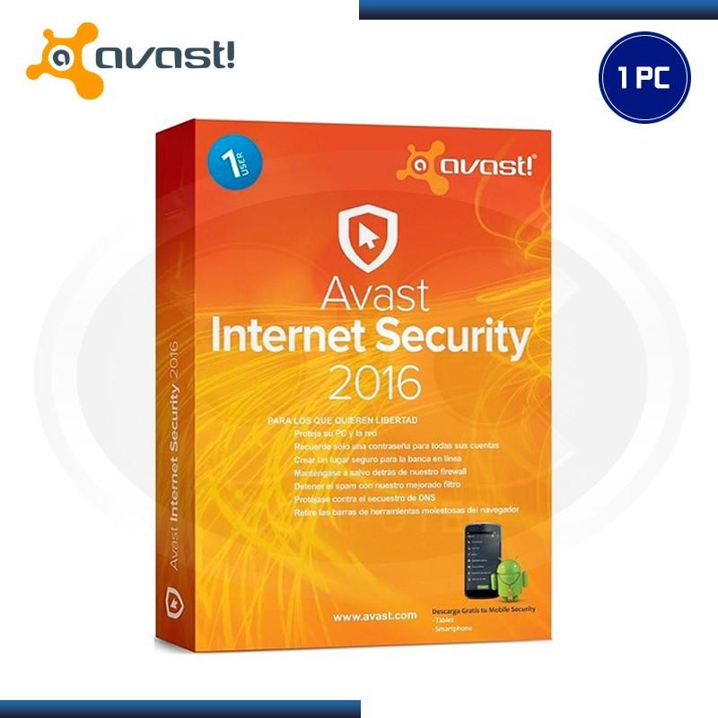 AVAST INTERNET SECURITY 2016 1PC