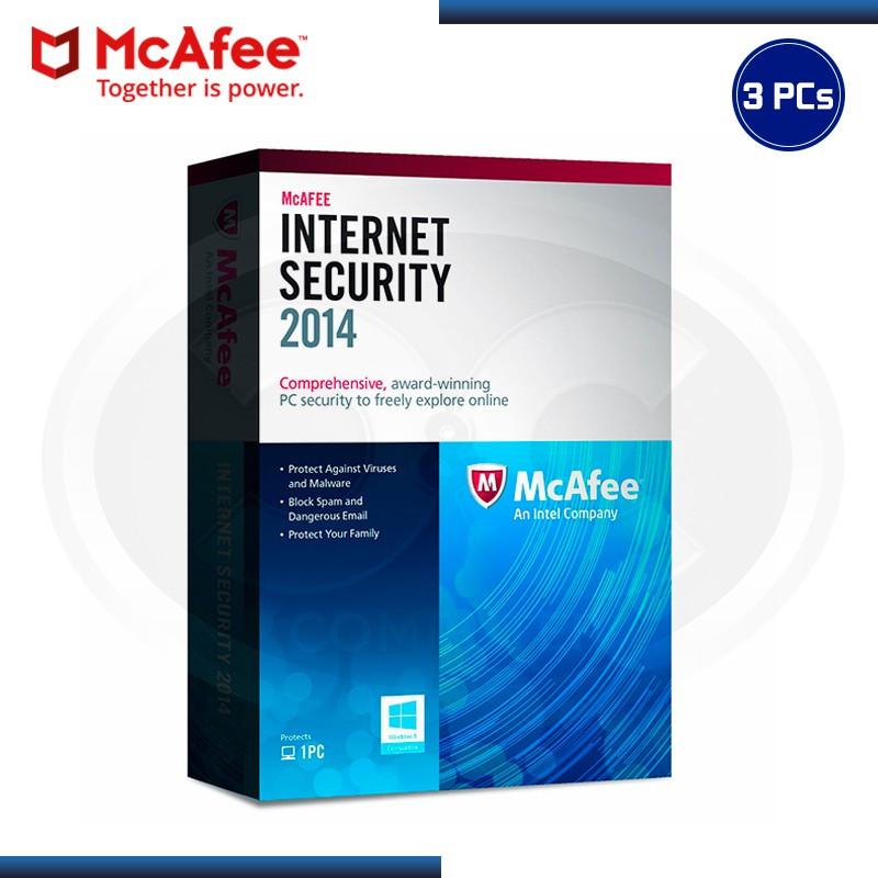MCAFEE INTERNET SECURITY 2014 3PCs ANUAL